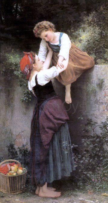 William Adolphe Bouguereau The Little Marauders - Canvas Art Print