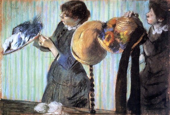 Edgar Degas The Little Milliners - Canvas Art Print