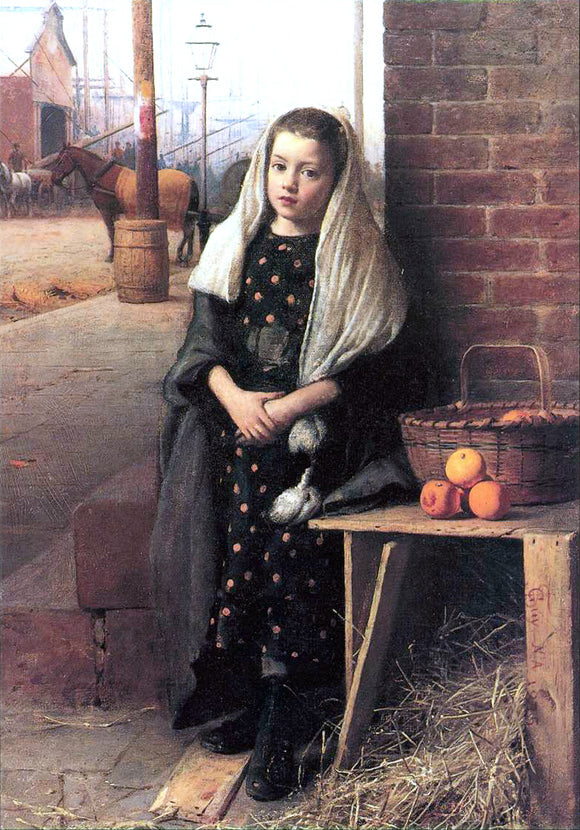 Seymour Joseph Guy The Little Orange Girl - Canvas Art Print