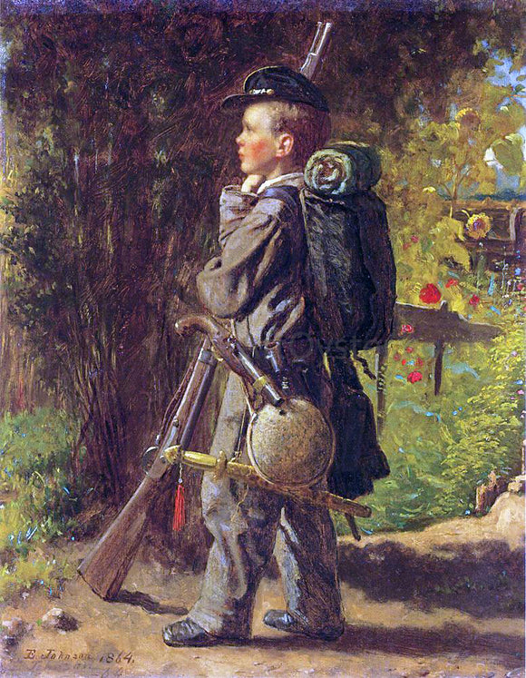 Eastman Johnson The Little Soldier - Canvas Art Print