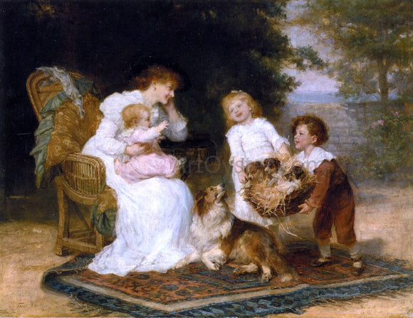 Frederick Morgan The Little Strangers - Canvas Art Print
