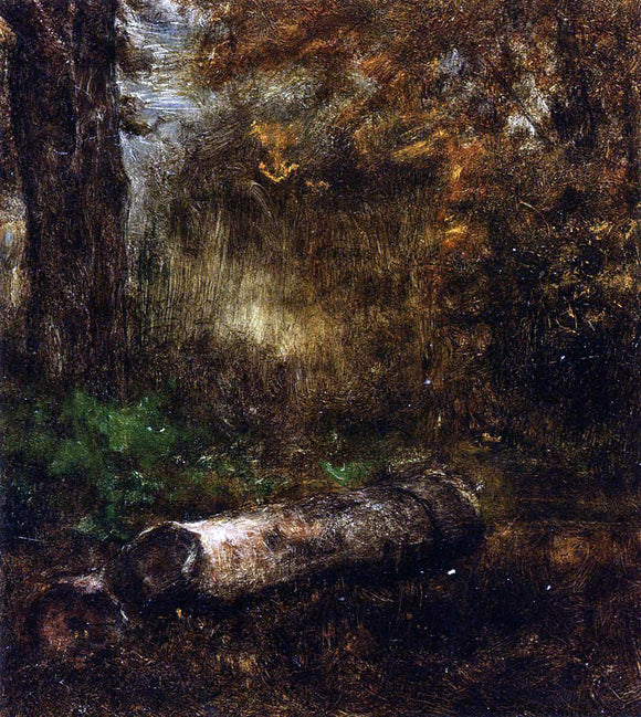 George Inness The Log - Canvas Art Print