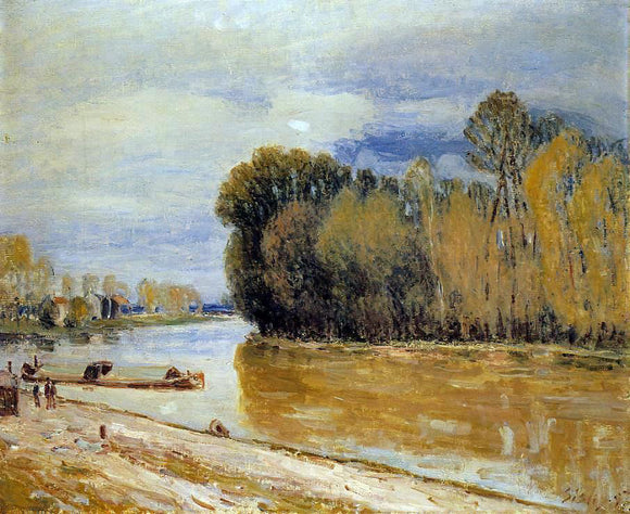 Alfred Sisley The Loing Canal - Canvas Art Print