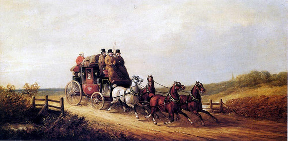 Charles Cooper Henderson The London to Brighton Royal Mail on the Open Road - Canvas Art Print