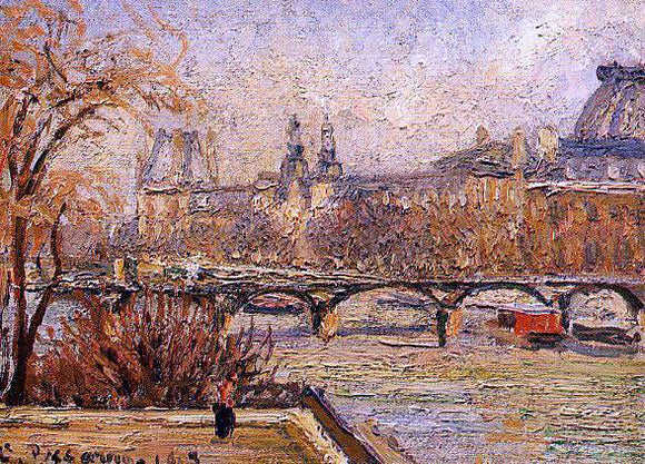 Camille Pissarro The Louvre - Morning - Canvas Art Print