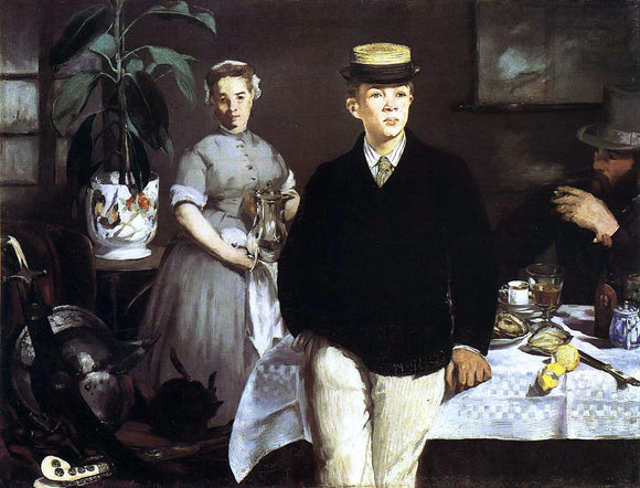 Edouard Manet The Lucheon (also known as The Luncheon in the Studio) - Canvas Art Print