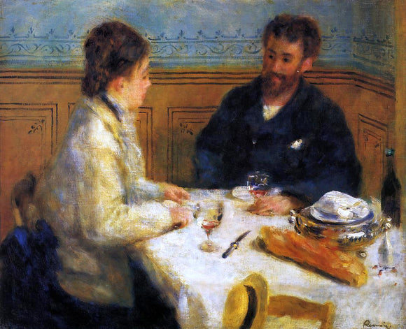 Pierre Auguste Renoir The Luncheon - Canvas Art Print