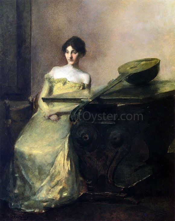 Thomas Wilmer Dewing The Lute - Canvas Art Print