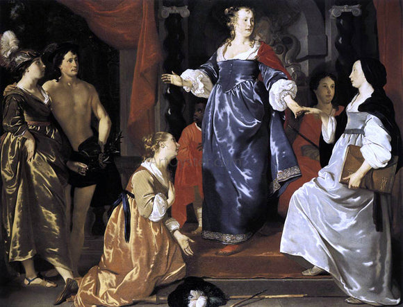 Abraham Van den Tempel The Maid of Leiden Welcomes 'Nering' - Canvas Art Print