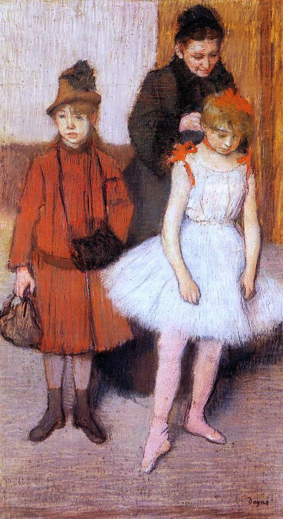 Edgar Degas The Mante Family - Canvas Art Print