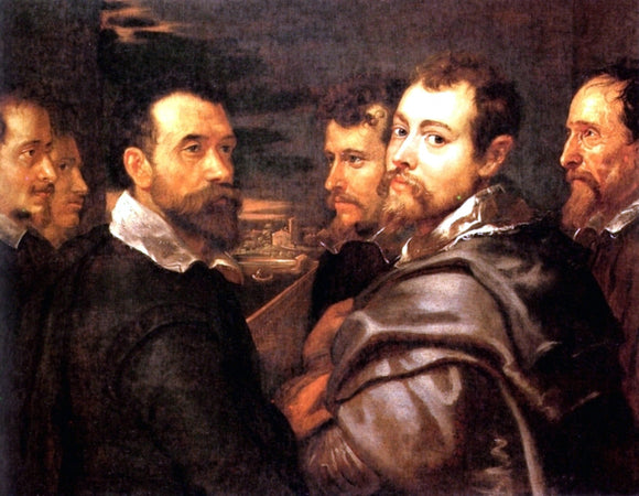 Peter Paul Rubens The Mantuan Circle Of Friends - Canvas Art Print