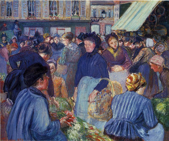 Camille Pissarro The Market at Gisors - Canvas Art Print
