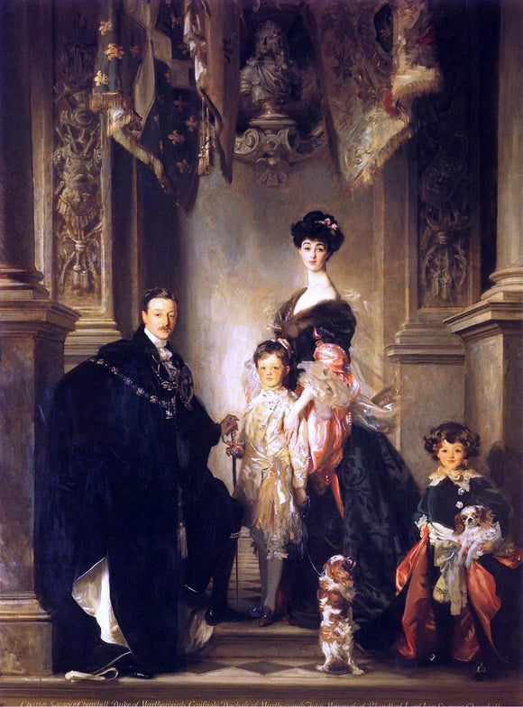 John Singer Sargent The Marlborough Family - Canvas Art Print