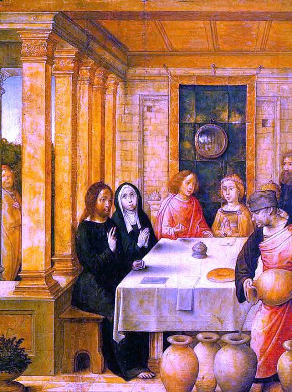 Juan De Flandes The Marriage Feast at Cana - Canvas Art Print