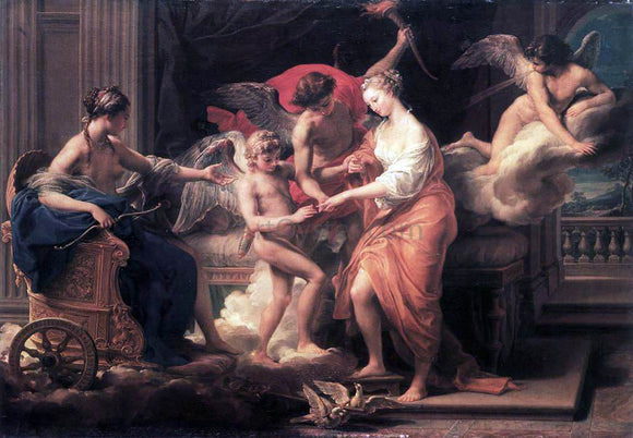 Pompeo Girolamo Batoni The Marriage of Cupid and Psyche - Canvas Art Print