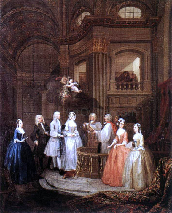 William Hogarth The Marriage of Stephen Beckingham and Mary Cox - Canvas Art Print