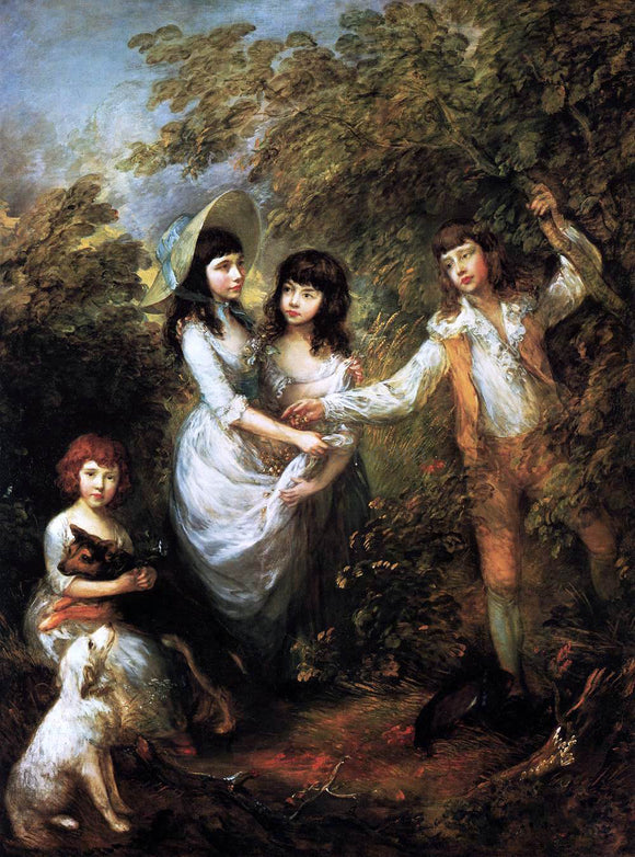Thomas Gainsborough The Marsham Children - Canvas Art Print