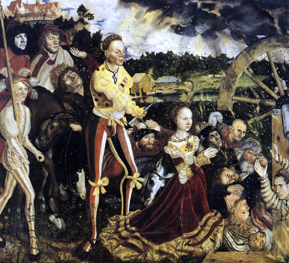 The Elder Lucas Cranach The Martyrdom of St Catherine - Canvas Art Print