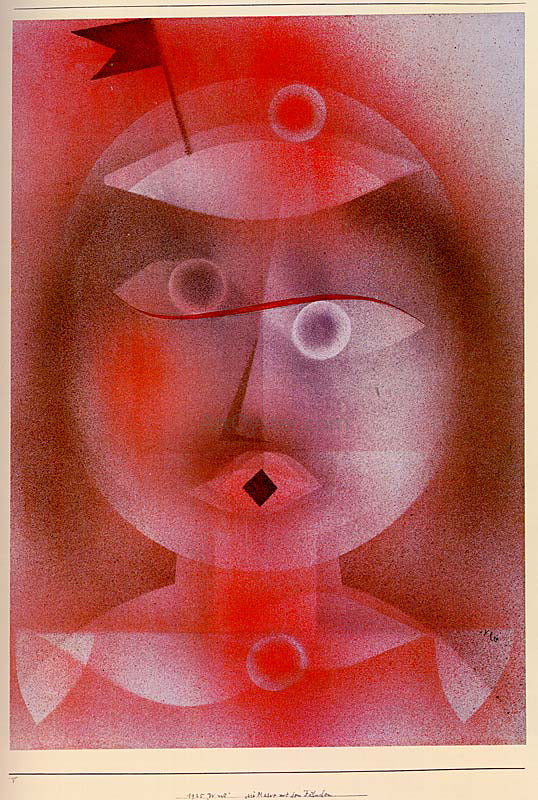 Paul Klee The Mask with the Little Flag - Canvas Art Print