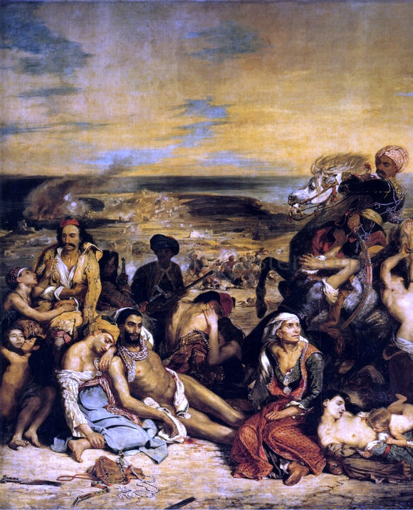 Eugene Delacroix The Massacre of Chios - Canvas Art Print