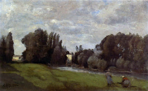 Jean-Baptiste-Camille Corot The Mill in the Trees - Canvas Art Print