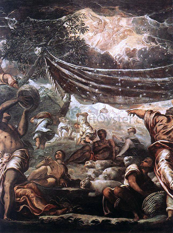 Jacopo Robusti Tintoretto The Miracle of Manna (detail: 1) - Canvas Art Print