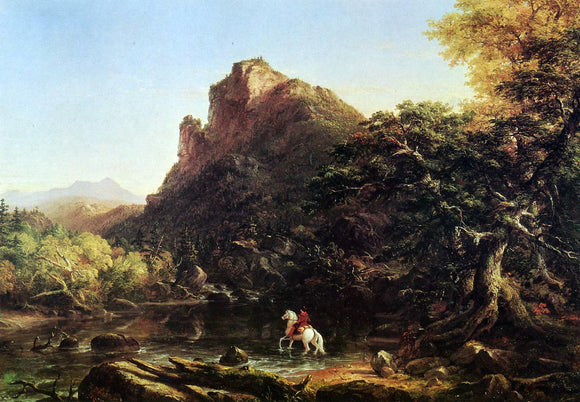 Thomas Cole The Mountain Ford - Canvas Art Print