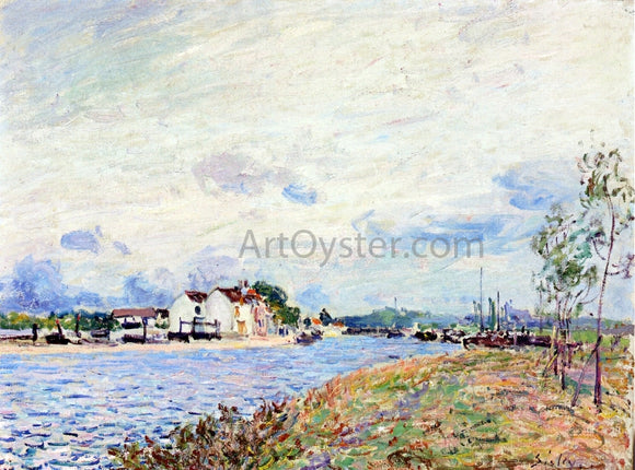 Alfred Sisley The Mouth of the Loing at Saint-Mammes - Canvas Art Print