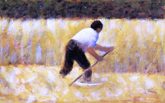 Georges Seurat The Mower - Canvas Art Print