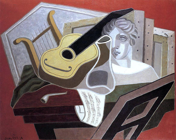 Juan Gris The Musician's Table - Canvas Art Print