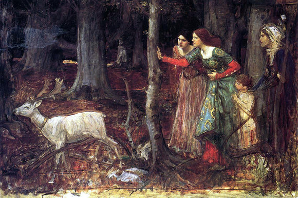 John William Waterhouse The Mystic Wood - Canvas Art Print