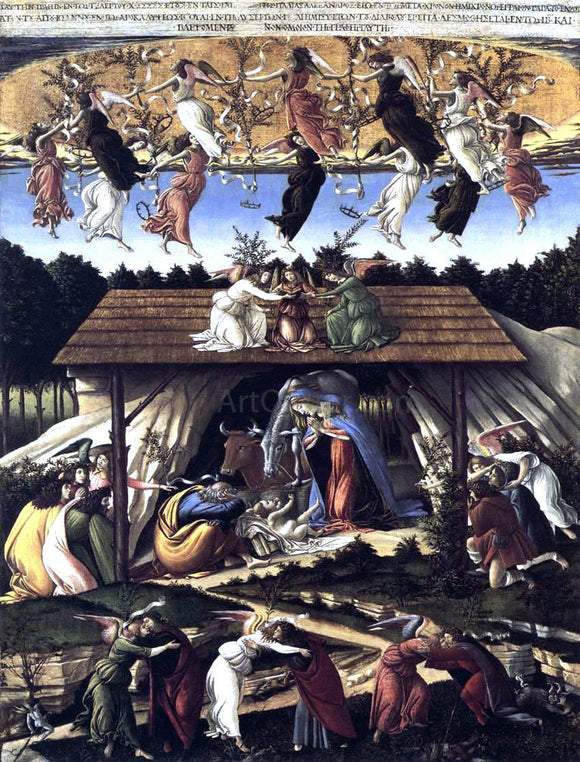 Sandro Botticelli The Mystical Nativity - Canvas Art Print