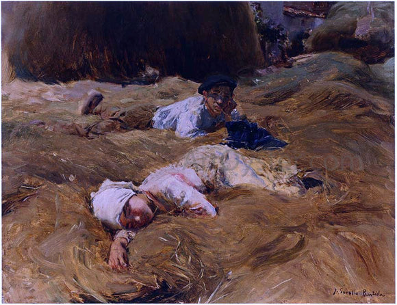 Joaquin Sorolla Y Bastida The Nap, Asturias - Canvas Art Print