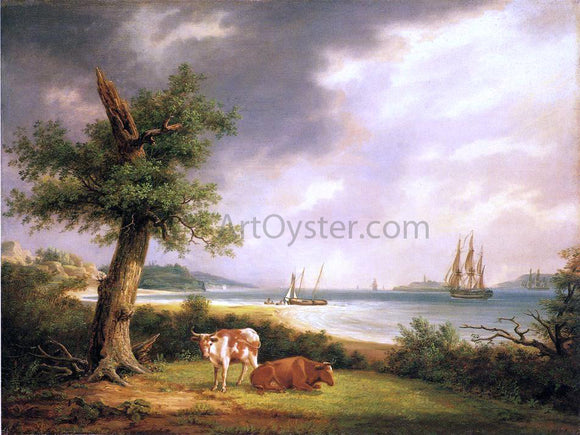 Thomas Birch The Narrows, New York Bay - Canvas Art Print