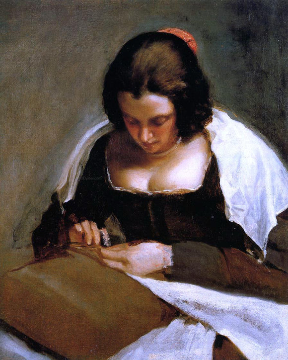 Diego Velazquez The Needlewoman - Canvas Art Print