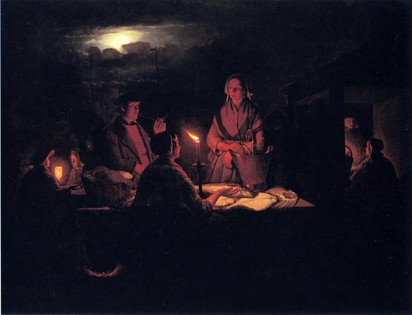 Petrus Van Schendel The Night Market - Canvas Art Print