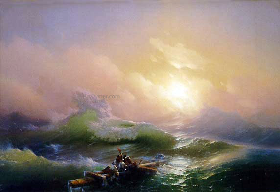 Ivan Constantinovich Aivazovsky The Ninth Wave - Canvas Art Print