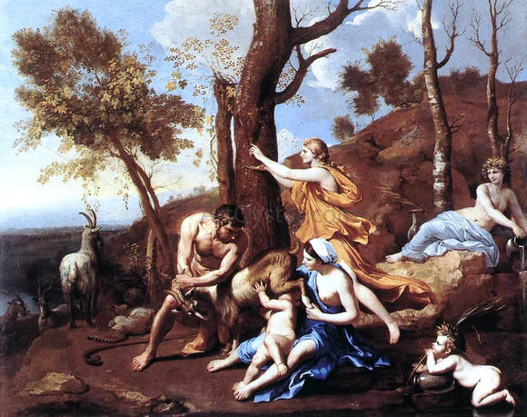 Nicolas Poussin The Nurture of Jupiter - Canvas Art Print