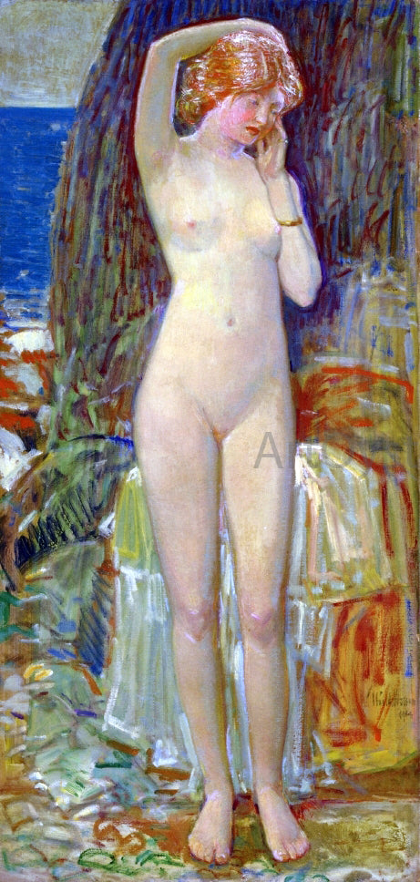 Frederick Childe Hassam The Nymph of Beryl Gorge - Canvas Art Print