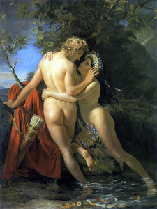 Francois-Joseph Navez The Nymph Salmacis and Hermaphroditus - Canvas Art Print
