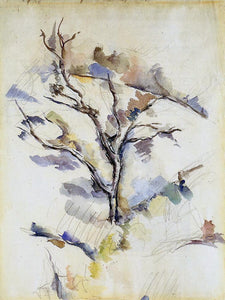 Paul Cezanne The Oak Tree - Canvas Art Print