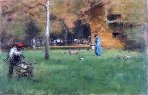 George Inness The Old Barn - Canvas Art Print