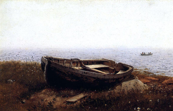 Frederic Edwin Church The Old Boat (also known as The Abandoned Skiff) - Canvas Art Print