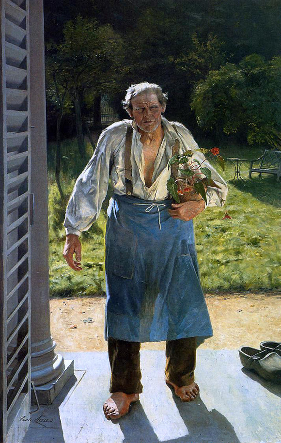 Emile Claus The Old Gardener - Canvas Art Print