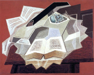 Juan Gris The Open Book - Canvas Art Print