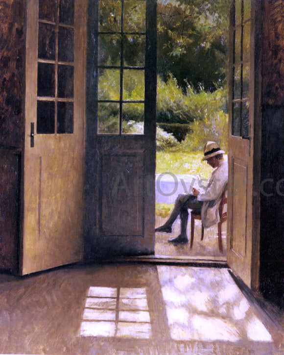 Peter Vilhelm Ilsted The Open Door - Canvas Art Print