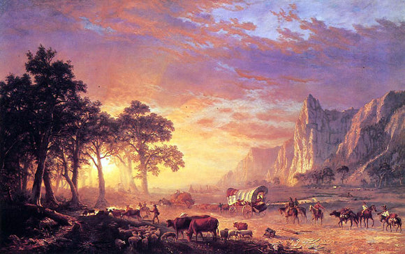 Albert Bierstadt The Oregon Trail - Canvas Art Print