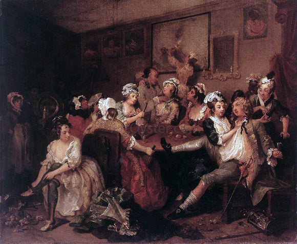 William Hogarth The Orgy - Canvas Art Print