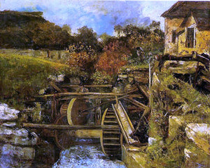 Gustave Courbet Ornans Paper Mill - Canvas Art Print