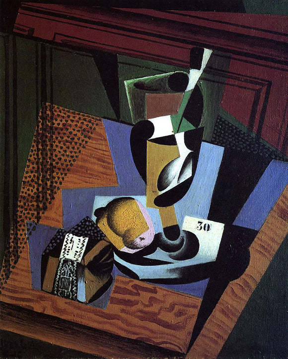 Juan Gris The Packet of Tobacco - Canvas Art Print